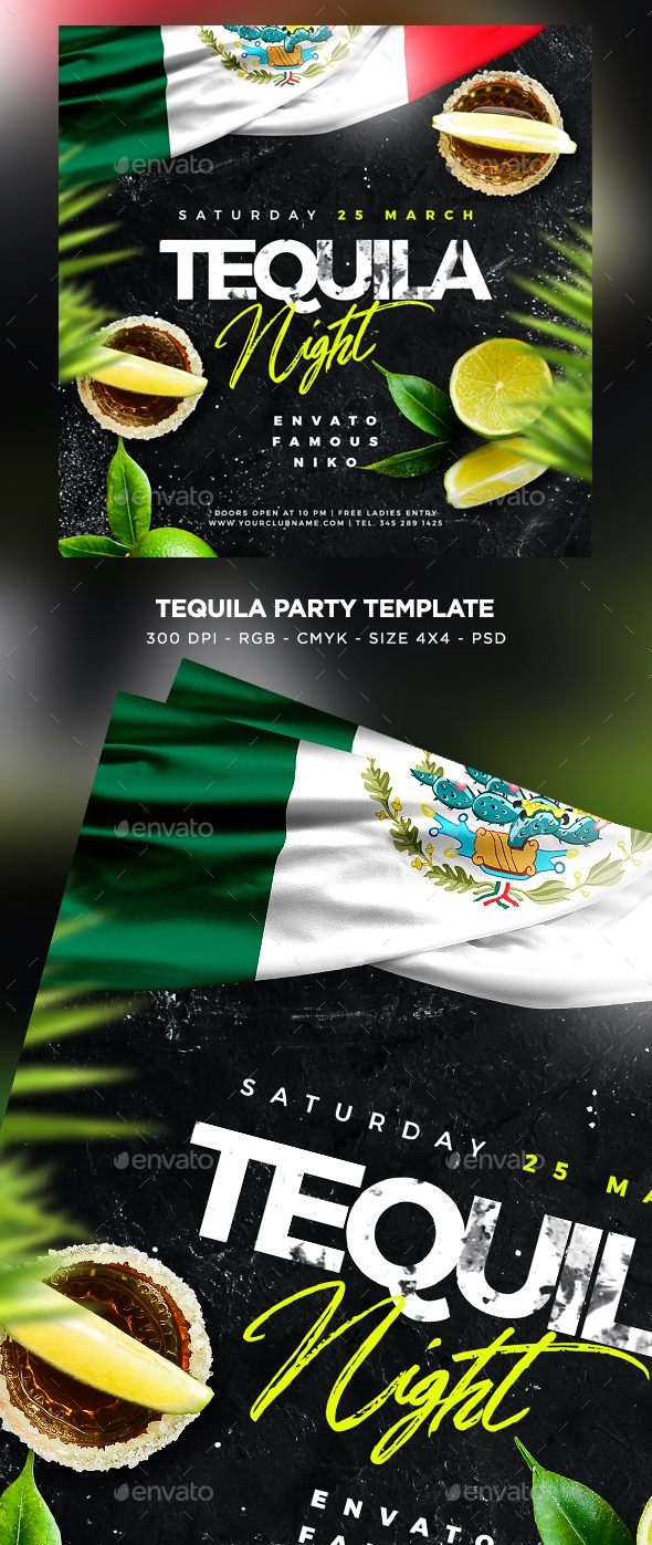 Flyers PSD – Tequila Party Flyer – Download