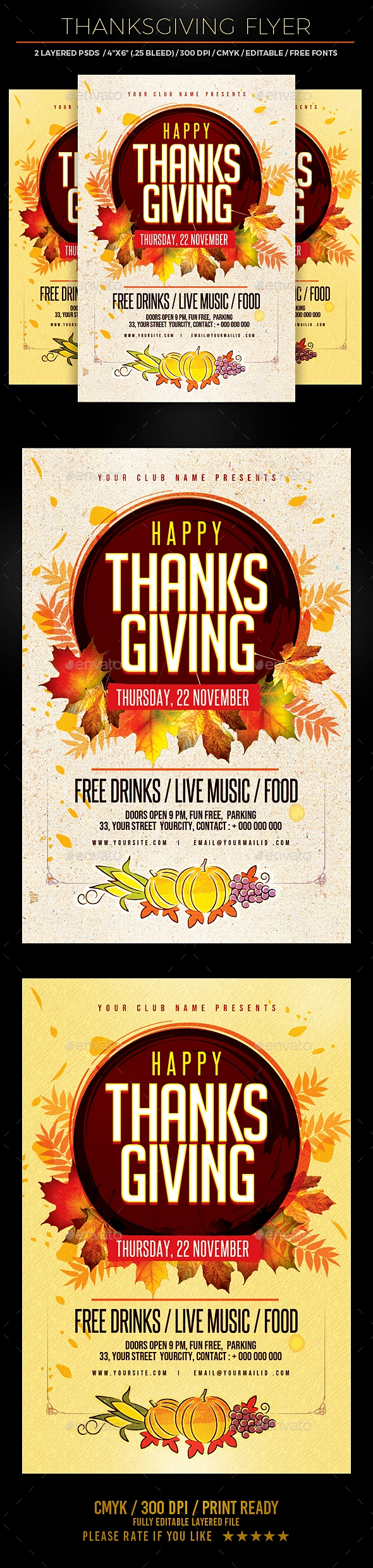 Flyers PSD – Thanksgiving Flyer – Download