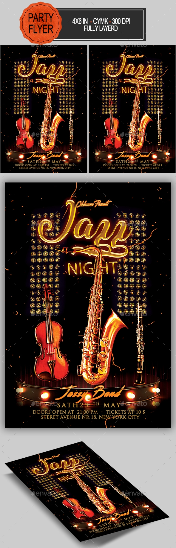 Flyers PSD – Jazz Flyer – Download
