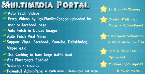 Media Portal Script with Responsive Themes – PHP Script Download