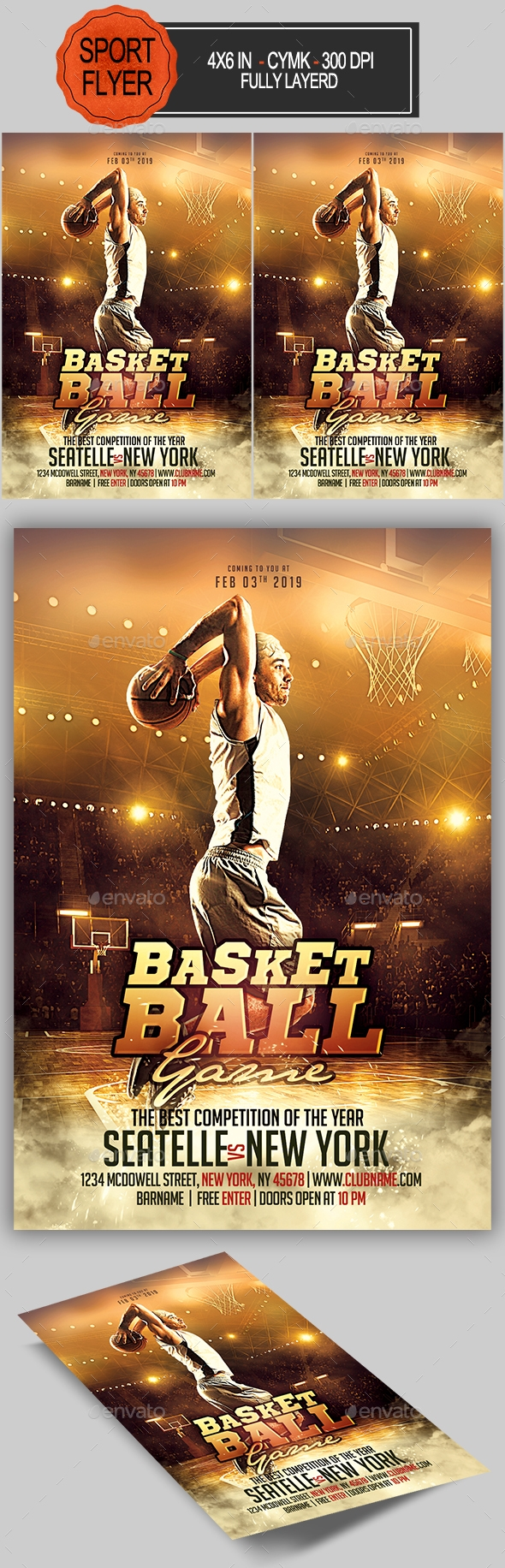 Flyers PSD – Basketball Flyer – Download