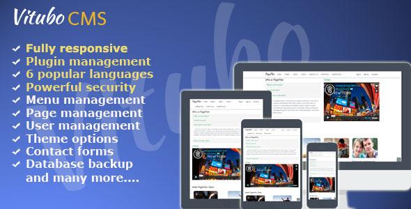 Vitubo CMS Version 2.3 – PHP Script Download
