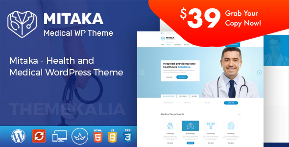 Mitaka – Scientific WordPress Theme – WP Theme Download