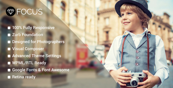 Focal level – Pictures WordPress Theme – WP Theme Download