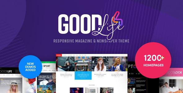 GoodLife – Journal & Newspaper WordPress Theme – WP Theme Download