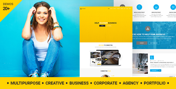 Connection – Ingenious Company WordPress Theme  – WP Theme Download