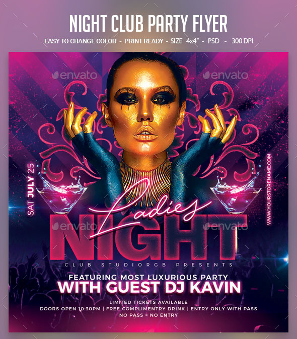 Flyers PSD – Nighttime Club Suisare Flyer – Download