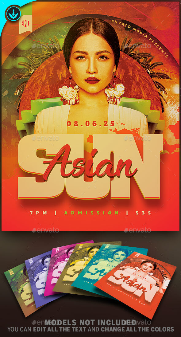Flyers PSD –  Sun Partys   – Download