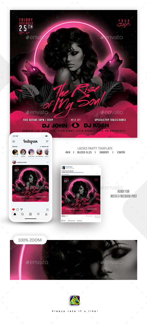Flyers PSD –  Night-timetime  Template – Download