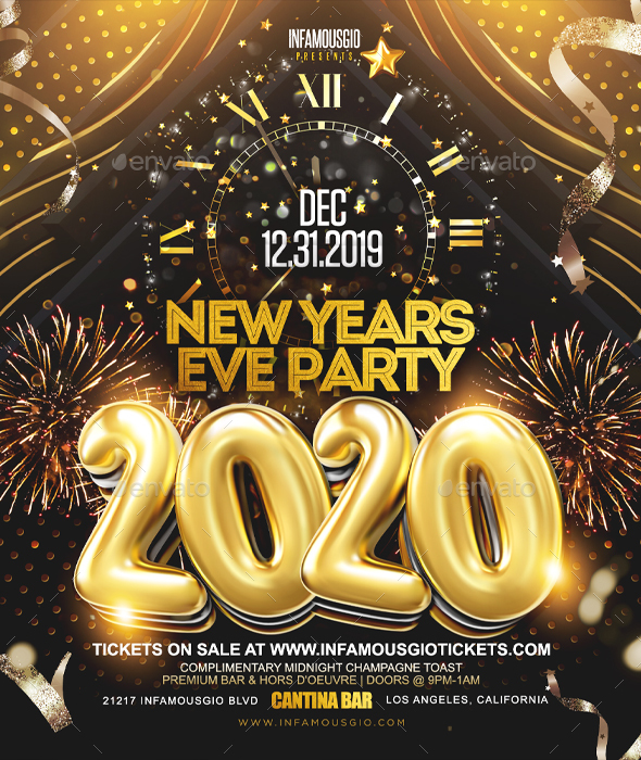 Flyers PSD – New Yearly Eve Partying 2020 – Download