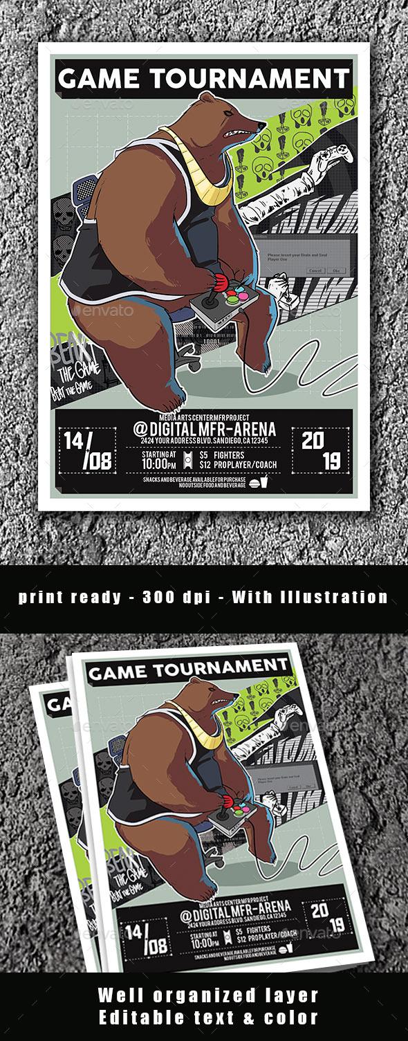 Flyers PSD – Game  Fleiger Poster – Download
