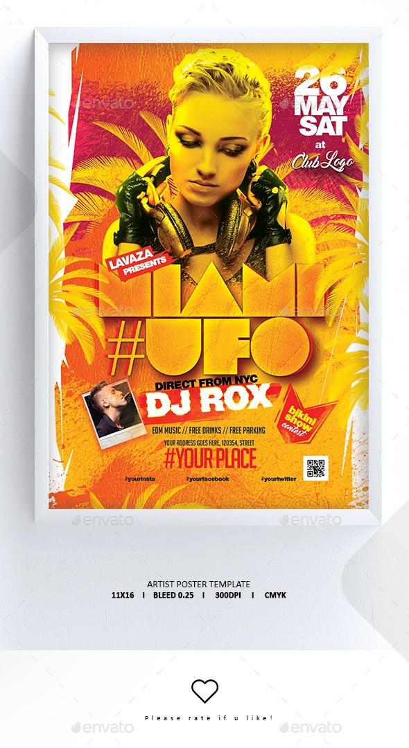 Flyers PSD – Artiste Posters Template – Download