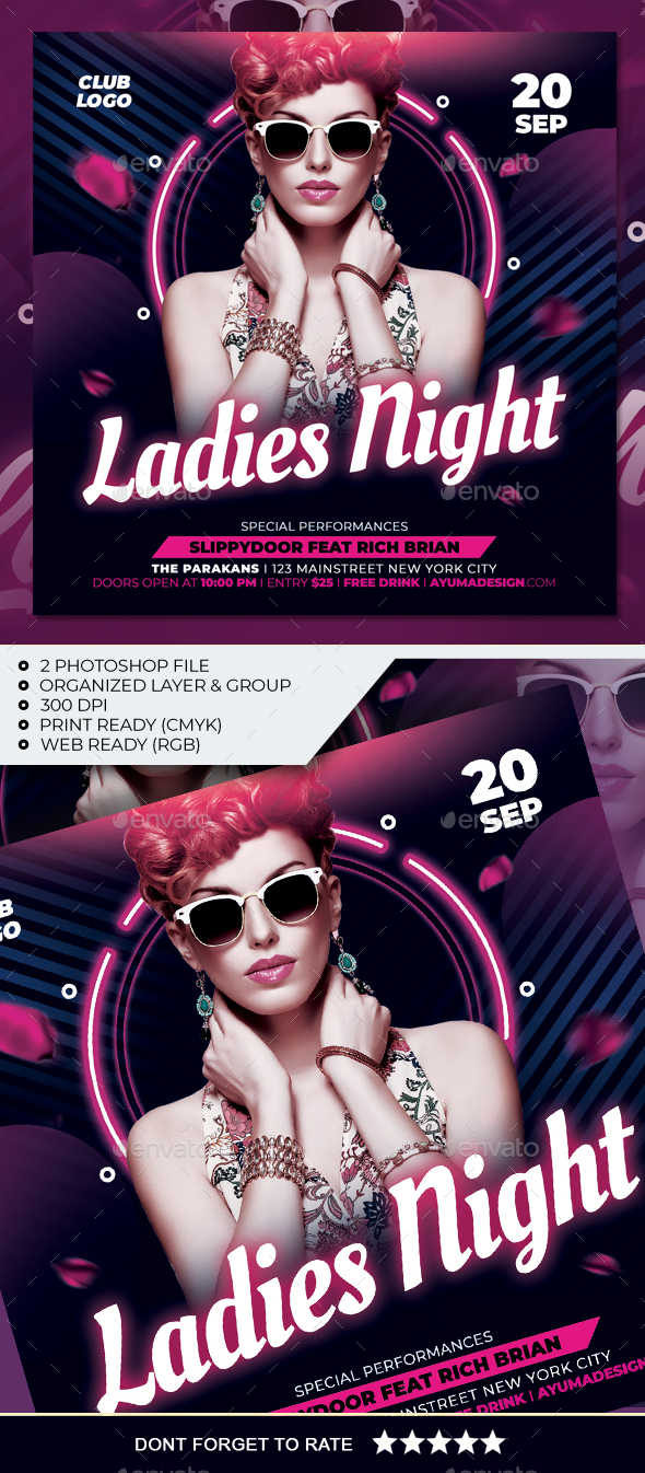 Flyers PSD – Ladies Night time Flyer – Download