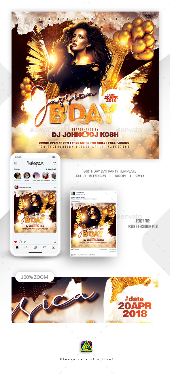 Flyers PSD – VIP Birthday Flyer Template – Download