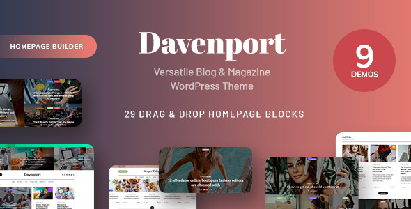 Davenport – Versatile Weblog and Journal WordPress Theme – WP Theme Download