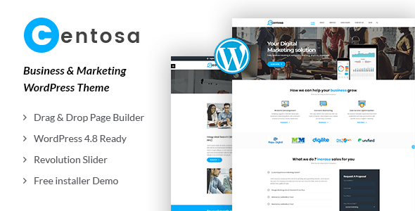 Centosa – Industry & Marketing WordPress Theme – WP Theme Download