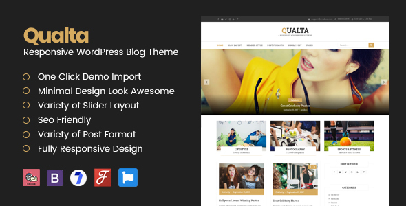 Qualta – Responsive WordPress Blog Theme – WP Theme Download