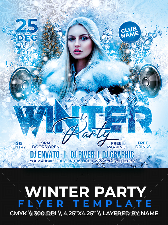 Flyers PSD – Winter Party Flyer – Download