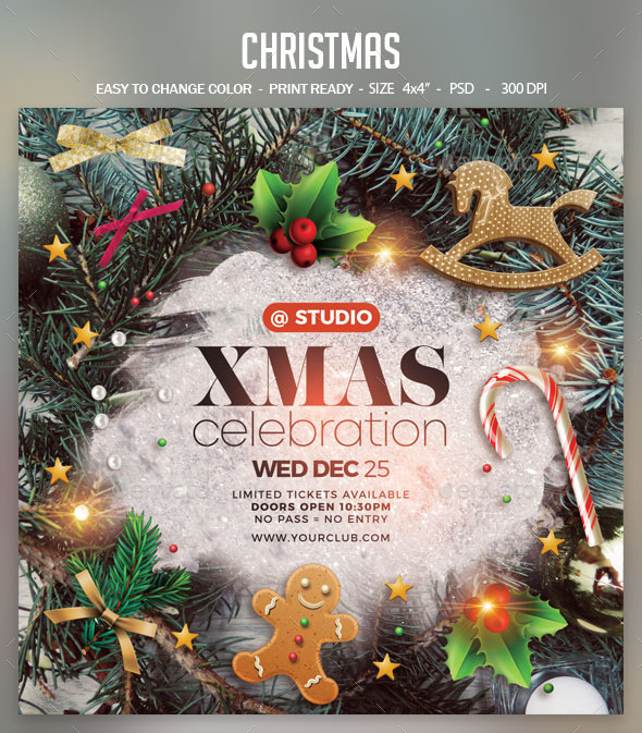 Flyers PSD – Christmas – Download