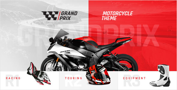 GrandPrix – Motorcycle WordPress Theme  – WP Theme Download