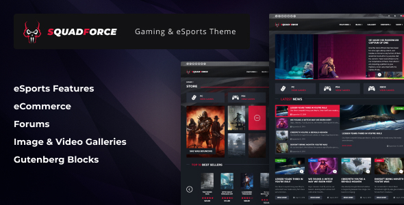 SquadForce – eSports Gaming WordPress Theme (previously Correct Video games)  – WP Theme Download