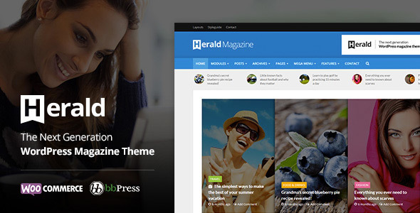 Herald – Newspaper & Data Portal WordPress Theme  – WP Theme Download