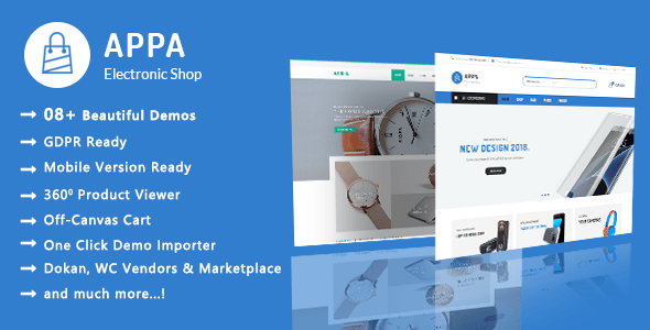 Appa | Electronics & Watches WooCommerce WordPress Theme – WP Theme Download