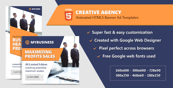 Creative Company Banners – HTML5 Spicy Advert Templates (GWD) – PHP Script Download