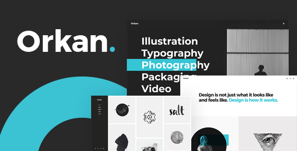Orkan – Artist and Originate Company Portfolio Theme  – WP Theme Download