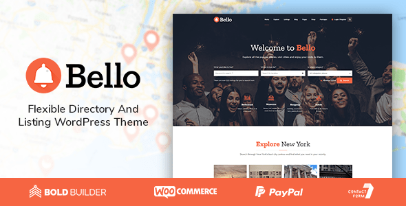 Bello – Directory & Itemizing  – WP Theme Download