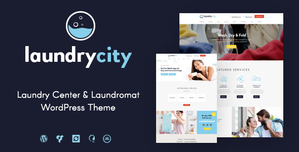 Laundry Metropolis | Dry Cleaning Services WordPress Theme – WP Theme Download