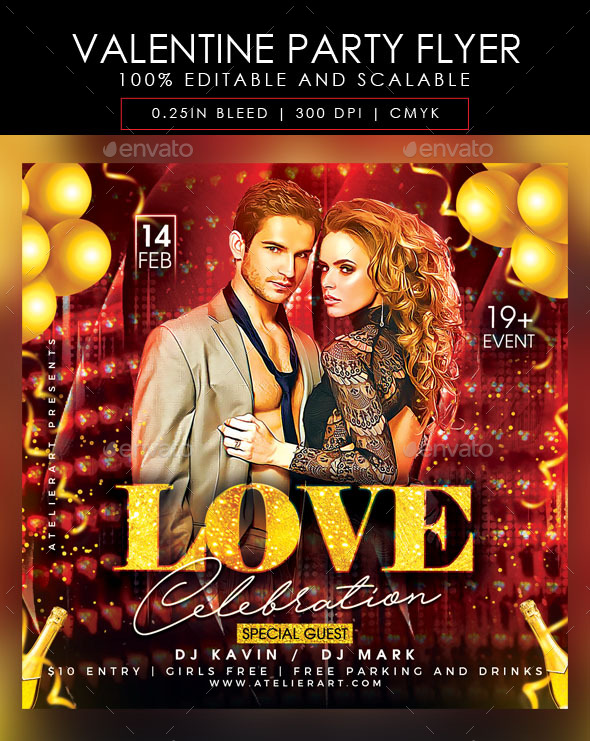 Flyers PSD – Valentine Event Flyer – Download