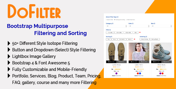 DoFilter – Bootstrap Multipurpose Filtering and Sorting – PHP Script Download