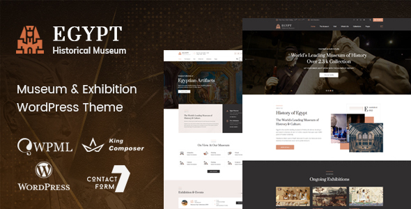 Egypt – Museum & Exhibition WordPress Theme – WP Theme Download