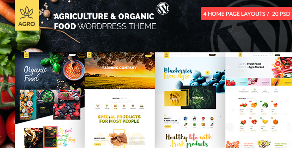 Agro – Natural Food Agriculture Farm WordPress Theme  – WP Theme Download