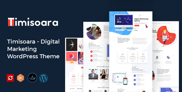 Timisoara – Digital Advertising and marketing WordPress Theme  – WP Theme Download
