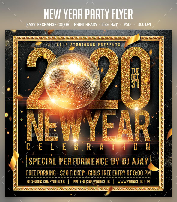 Flyers PSD – Fresh Yr Occasion Flyer – Download