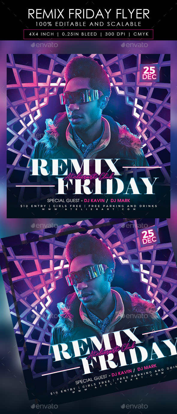 Flyers PSD – Remix Friday Flyer – Download