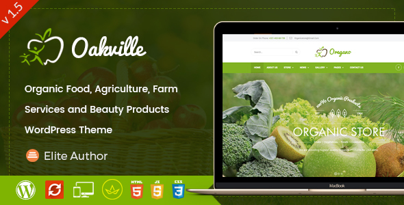 Oakville – Natural Meals and Beauty Products WP Theme – WP Theme Download