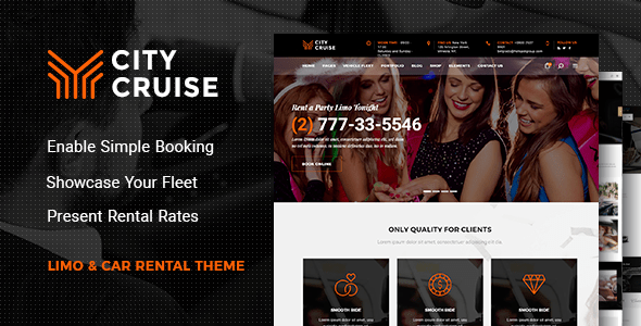 City Cruise – Limousine and Automotive Condo Theme – WP Theme Download