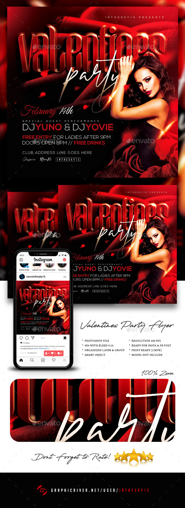 Flyers PSD – Valentines Occasion Flyer – Download