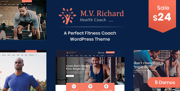 MV Richard – Nicely being and Fitness WordPress Theme – WP Theme Download