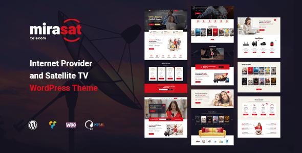 Mirasat – Cyber internet Provider and Satellite TV WordPress Theme  – WP Theme Download