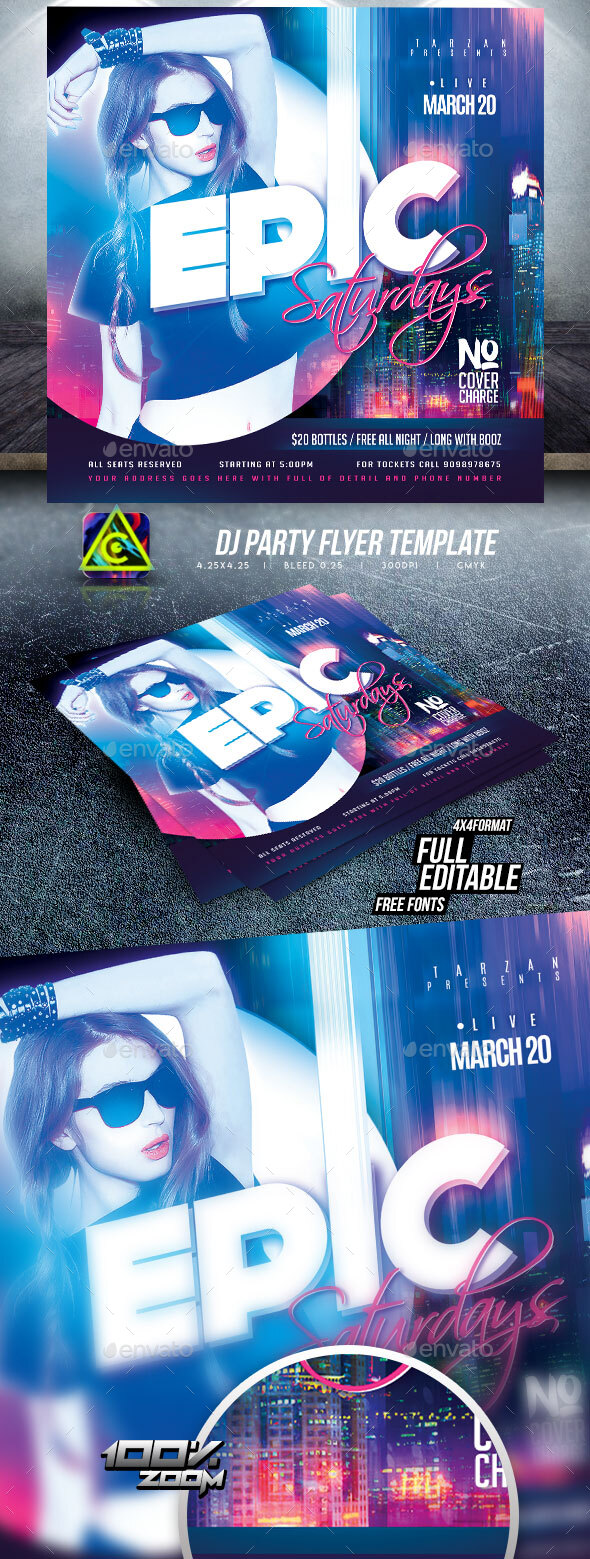Flyers PSD – Night Membership Flyer Template – Download