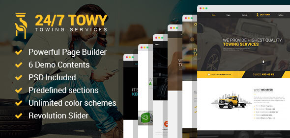 Towy – Emergency Auto Towing and Roadside Aid Carrier WordPress theme  – WP Theme Download