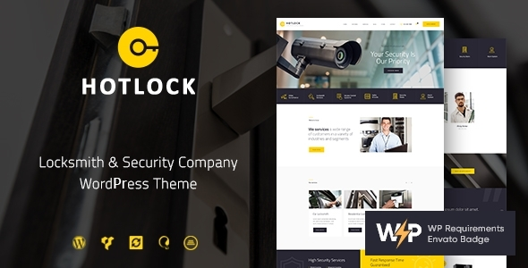 HotLock | Locksmith & Security Programs WordPress Theme – WP Theme Download