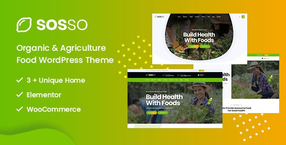 Sosso – Agriculture WordPress Theme – WP Theme Download