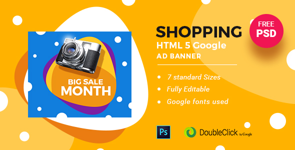 On-line Shopping | HTML5 Google Banner Advert 24 – PHP Script Download