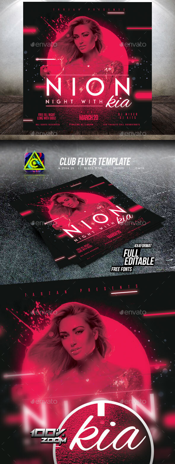 Flyers PSD – Club Celebration Flyer – Download