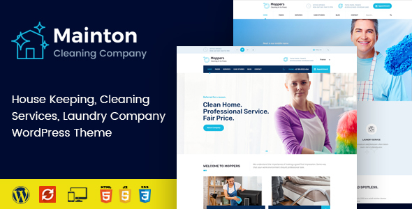 Mainton – Cleaning Products and companies WordPress Theme – WP Theme Download